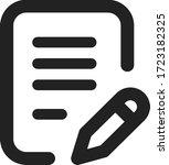 document edit vector line icon   Shutterstock .eps vector #1723182325