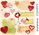 valentines set with hearts ... | Shutterstock .eps vector #172319972
