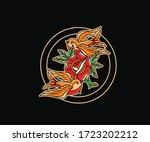 love  hate  rose and dagger....   Shutterstock .eps vector #1723202212