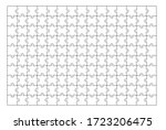 set of one hundred fifty puzzle ... | Shutterstock .eps vector #1723206475