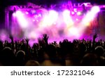 live music background. show and ... | Shutterstock . vector #172321046