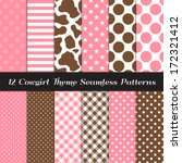 cowgirl theme seamless pattern...