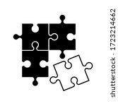 puzzle icon vector design... | Shutterstock .eps vector #1723214662