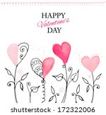 postcard for valentine's day... | Shutterstock .eps vector #172322006