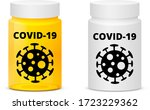 covid 19 pills  anti... | Shutterstock .eps vector #1723229362