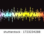 audio colorful wave logo on... | Shutterstock . vector #1723234288