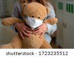 Teenage Girl Hugging Teddy Bear ...
