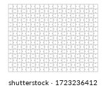 set of three hundred puzzle... | Shutterstock .eps vector #1723236412