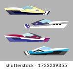 version modern yacht icons.... | Shutterstock . vector #1723239355