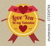 love design over gray  ... | Shutterstock .eps vector #172324766