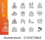 wedding   thin line web icon... | Shutterstock .eps vector #1723272862