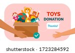 charitable toys donation for... | Shutterstock .eps vector #1723284592