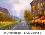 Oil Paintings Landscape  Tram ...