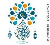 happy eid al fitr written in...   Shutterstock .eps vector #1723287475