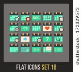 flat icons set 16   calendar...