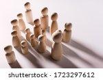 figures in the shape of people...   Shutterstock . vector #1723297612