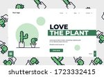 landing page with plants...