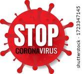 stop coronavirus banner with...   Shutterstock .eps vector #1723347145