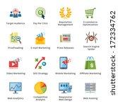 seo   internet marketing flat...