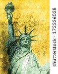 Statue Of Liberty Grunge...