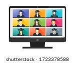 online virtual graduation video ... | Shutterstock .eps vector #1723378588
