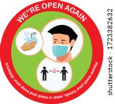 open again after quarantine ...   Shutterstock .eps vector #1723382632