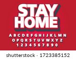 stay home font and alphabet ... | Shutterstock .eps vector #1723385152