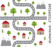 vector seamless pattern of hand ... | Shutterstock .eps vector #1723395268