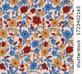 traditional indian paisley... | Shutterstock .eps vector #1723402165