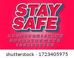 stay safe font and alphabet ... | Shutterstock .eps vector #1723405975