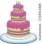 Strawberry Birthday Cake With 3 ...