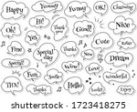 monochrome pop speech bubble... | Shutterstock .eps vector #1723418275
