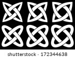2 ring knots  vector...