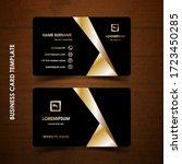 modern business card design... | Shutterstock .eps vector #1723450285