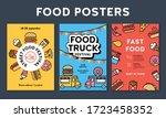 vector street food banner... | Shutterstock .eps vector #1723458352