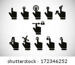 touch screen gesture collection | Shutterstock .eps vector #172346252