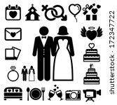 wedding icons set. illustration ...   Shutterstock .eps vector #172347722