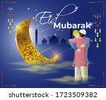 vector illustration of greeting ... | Shutterstock .eps vector #1723509382