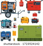 different types of industrial... | Shutterstock .eps vector #1723524142