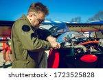 Pilot Repairs Small Aircraft....