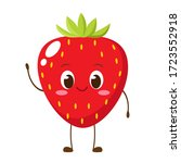 cute happy strawberry character....   Shutterstock .eps vector #1723552918