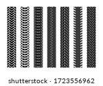 black tire tracks wheel car or...   Shutterstock . vector #1723556962