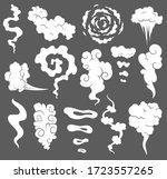 bad smell. smoke clouds. steam...   Shutterstock . vector #1723557265