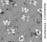 monochrome vector seamless... | Shutterstock .eps vector #1723558558