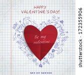 set of hand drawn various... | Shutterstock .eps vector #172355906