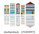 venice houses cartoon over... | Shutterstock .eps vector #172355972