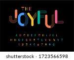 vector of modern playful font... | Shutterstock .eps vector #1723566598