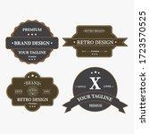 set of retro vintage badge logo ... | Shutterstock .eps vector #1723570525