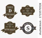 set of retro vintage badge logo ... | Shutterstock .eps vector #1723570528