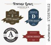 set of retro vintage badge logo ... | Shutterstock .eps vector #1723578112